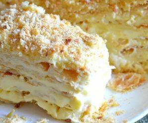 Домашний торт Наполеон.